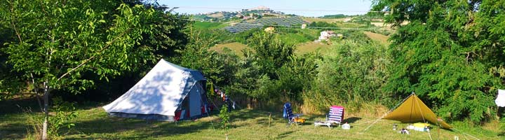 De kampeerplaats met veel privacy  op de rustieke camping