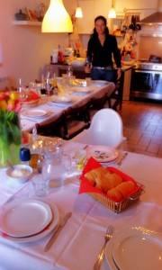 Vanessa in de keuken