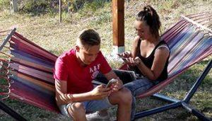 Chillen in de hangmatten bij Villa Bussola