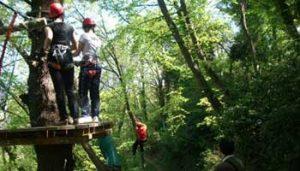 Klimpark tienerpret bij Villa Bussola