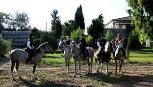 Paardrijden tieners Villa Bussola