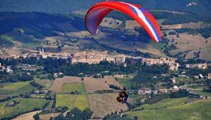 Paragliding Kleine camping Villa Bussola