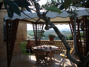 Appartementen in Le Marche, terras